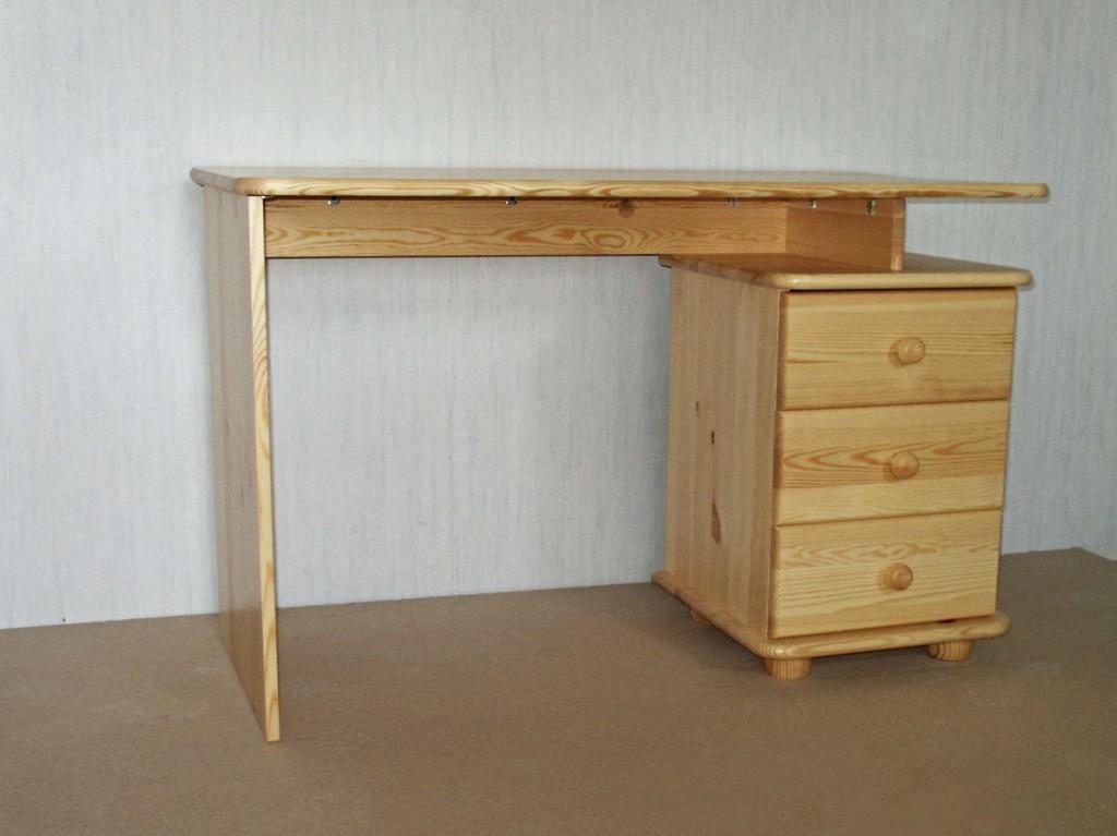 Písací stolík s tromi zásuvkami